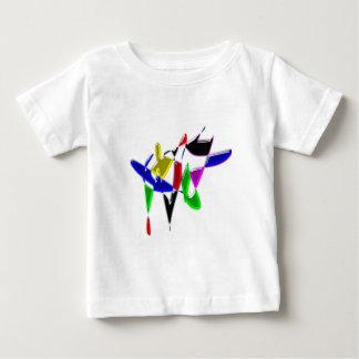 Camiseta Para Bebê Textura da arte moderna