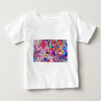 Camiseta Para Bebê textura das bolas da geléia do colore