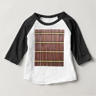 Camiseta Para Bebê textura de bambu da esteira