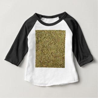 Camiseta Para Bebê textura secada do tomilho