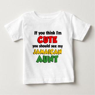 Camiseta Para Bebê Tia jamaicana tão bonito