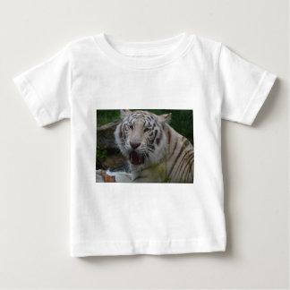 Camiseta Para Bebê Tigre branco