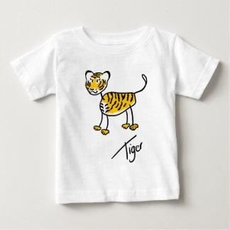 Camiseta Para Bebê Tigre de Timmy