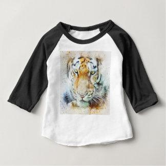Camiseta Para Bebê tigre do design da arte