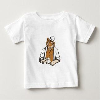Camiseta Para Bebê tigre humano com cartões de jogo
