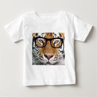 Camiseta Para Bebê Tigre nos vidros
