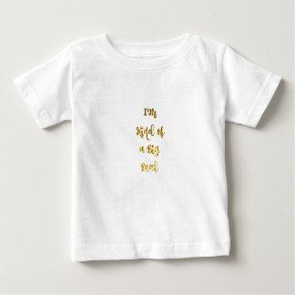 Camiseta Para Bebê Tipo de I'm de uma grande coisa no brilho do ouro