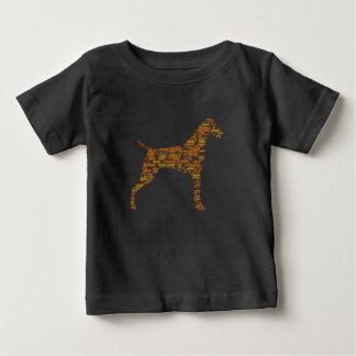 Camiseta Para Bebê Tipografia alemão do ponteiro de cabelos curtos
