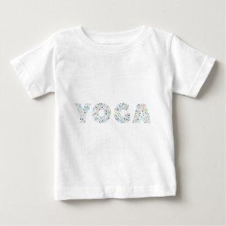 Camiseta Para Bebê Tipografia da ioga