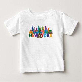 Camiseta Para Bebê Tipografia da skyline da Nova Iorque