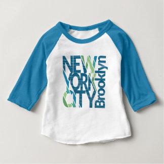 Camiseta Para Bebê Tipografia de Brooklyn New York