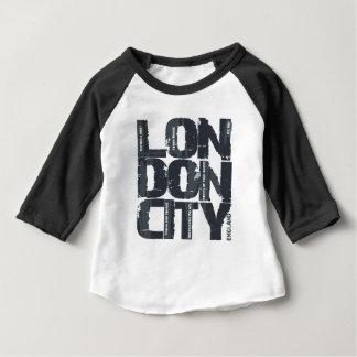 Camiseta Para Bebê Tipografia de Londres, Inglaterra