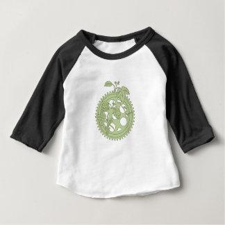 Camiseta Para Bebê Tiragem dos saltos da manivela do anel do vintage