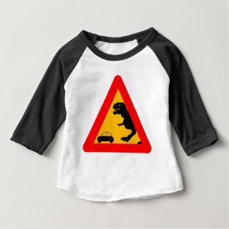 Camiseta Para Bebê Tiranossauro de advertência Rex
