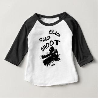 Camiseta Para Bebê Tiro do clique do clique