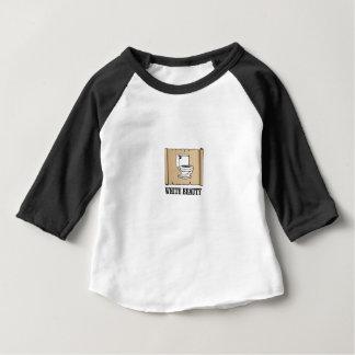 Camiseta Para Bebê toalete branco da beleza