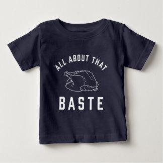 Camiseta Para Bebê Toda sobre o esse regue a acção de graças