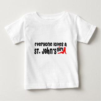 Camiseta Para Bebê Todos ama a menina de um St John
