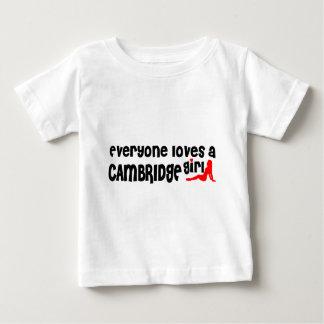 Camiseta Para Bebê Todos ama uma menina de Cambridge