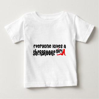 Camiseta Para Bebê Todos ama uma menina de Sherbrooke