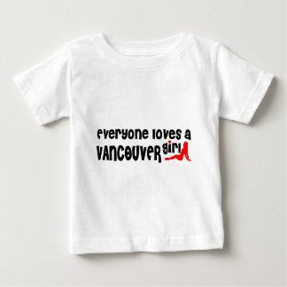 Camiseta Para Bebê Todos ama uma menina de Vancôver