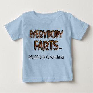 Camiseta Para Bebê Todos Farts especialmente avó! T-shirt infantil