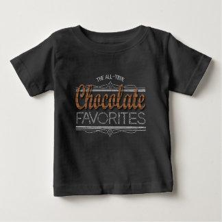 Camiseta Para Bebê Todos os favoritos do chocolate