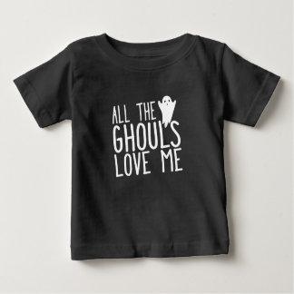 Camiseta Para Bebê Todos os ghouls me amam criança do Dia das Bruxas