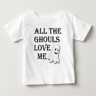 Camiseta Para Bebê Todos os Ghouls me amam Tshirt preto da criança
