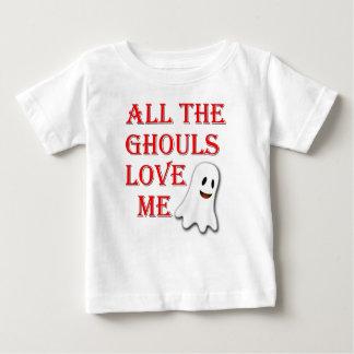 Camiseta Para Bebê Todos os Ghouls me amam Tshirt vermelho da criança