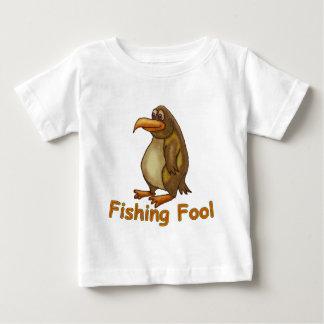 Camiseta Para Bebê Tolo da pesca
