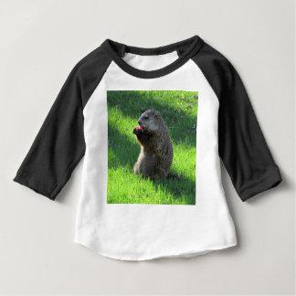 Camiseta Para Bebê Tomate Groundhog
