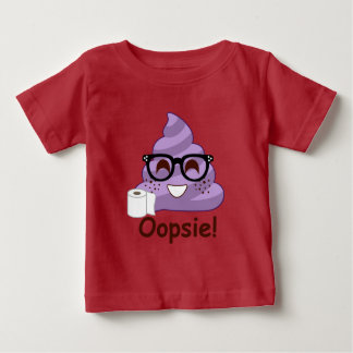 Camiseta Para Bebê Tombadilho do roxo Oops