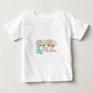 Camiseta Para Bebê Tome-me à praia
