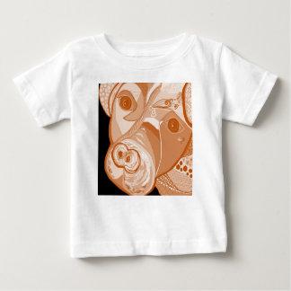 Camiseta Para Bebê Tons do Sepia do pitbull