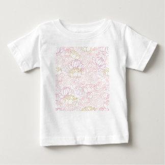 Camiseta Para Bebê Toque das peônias do ouro