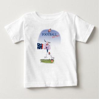 Camiseta Para Bebê Toque do futebol para baixo, fernandes tony
