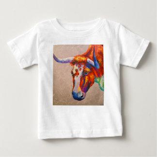 Camiseta Para Bebê Touro curioso