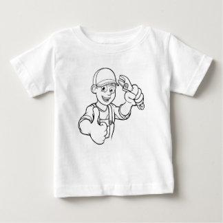 Camiseta Para Bebê Trabalhador manual do mecânico ou do canalizador