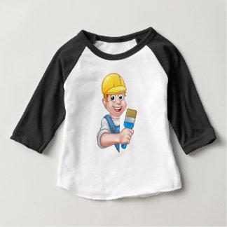 Camiseta Para Bebê Trabalhador manual dos desenhos animados do pintor