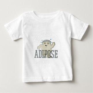 Camiseta Para Bebê Trabalhando meu exercício da gordura animal fora