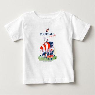 Camiseta Para Bebê Trabalho da equipa de futebol, fernandes tony