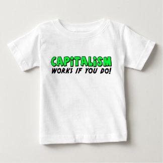 Camiseta Para Bebê Trabalhos do capitalismo