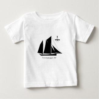 Camiseta Para Bebê traineira 1887 ketch-equipada - fernandes tony