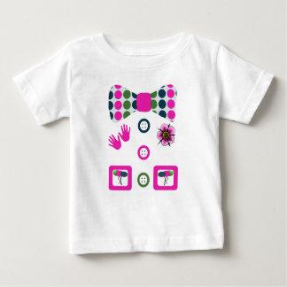 Camiseta Para Bebê Traje cor-de-rosa do Dia das Bruxas do palhaço das