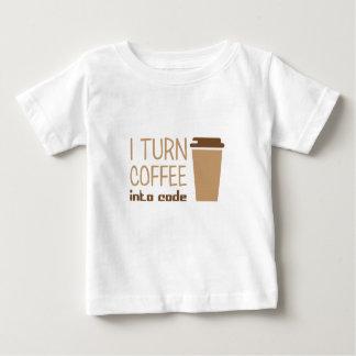 Camiseta Para Bebê Transforme o café no código