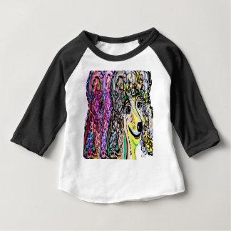 Camiseta Para Bebê Transição da cor da caniche