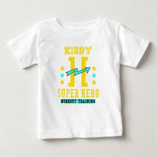 Camiseta Para Bebê Treinamento do exercício do super-herói de Kidd