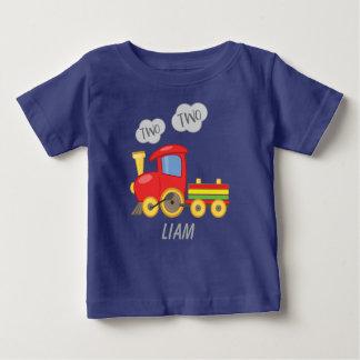 Camiseta Para Bebê Trem dois dois