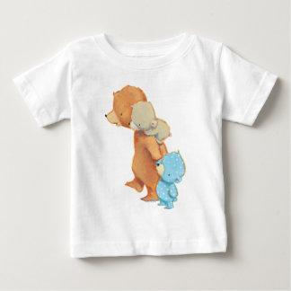 Camiseta Para Bebê Três amigos adoráveis do urso